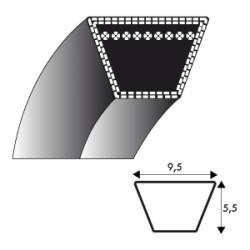 Courroie Kevlar 3L390 - 9.5 mm x 990 mm