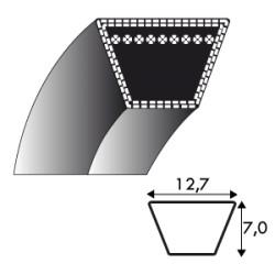 Courroie 4L790 - 12.7 mm x 2007 mm