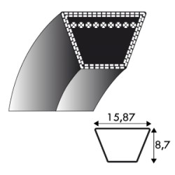 Courroie Kevlar 5L880 - 15.8 mm x 2235 mm