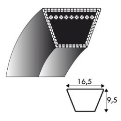 Courroie LB44 - 16.5 mm x 1118 mm