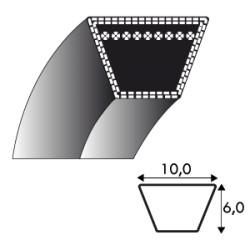 Courroie Z26.5 - 10 mm x 670 mm