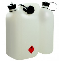 Bidon double usage blanc (6 L + 3 L)