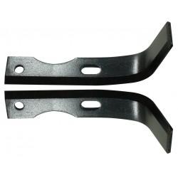 Couteau de de fraise pour motoculteur Agria / Solo / Staub 160 mm (sarcleur) Conditionnement par paire