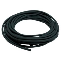 Durite caoutchouc noire ø : 4 mm - Long. : 10 m