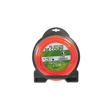 Coque fil nylon carré (1/2 kg) ø : 4,0 mm