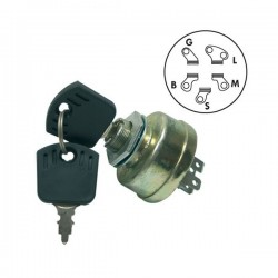 Contacteur à clé - Castelgarden 18450065/1 - Honda CG18450065HO