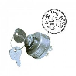 Contacteur à clé JOHN DEERE AM38227 - S910 - S930 - 108 - 112 - 116 - 316 - 318 - 420 - GS25 - GS30 - GS45 - GS75 - HD45