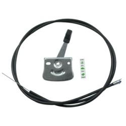 Manette de gaz métallique complète - A utiliser à droite ou à gauche